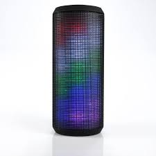 light up portable speaker blackweb highwire portable wireless bluetooth speaker with led light