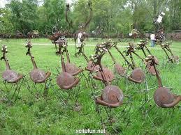 yard from junk metal metal yard the bird band