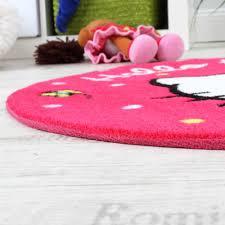 Schlafzimmer Teppich Rund Hello Kitty Teppich Kinderzimmer Teppich Rund Mit Schmetterlingen