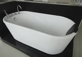 Free Standing Jacuzzi Bathtub 55 Inch Acrylic Free Standing Soaking Tub 1400mm