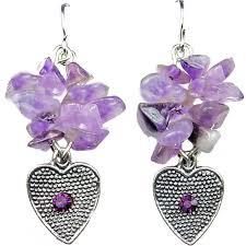 purple drop earrings buy purple heart drop earrings dangle fashion jewellery