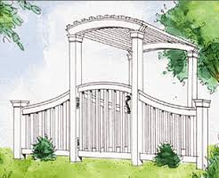 Garden Arch Plans by Affordable Arbor Plans Gazebos Decks And Planters