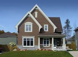 Modern Two Storey House With Streamline Roof by House Plan W3503 Detail From Drummondhouseplans Com