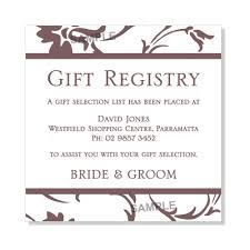 gift registry cards wedding invitation wording gift registry 6 best images of