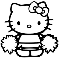 hello kitty coloring pages cheerleader coloring kids pinterest