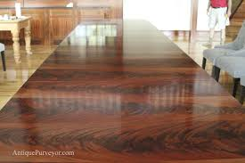 Extra Large Dining Room Tables 10 To18 Foot Large Triple Pedestal Mahogany Dining Table