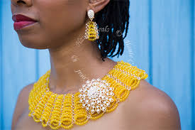 yellow jewelry necklace images Amelia yellow crystal bead collar statement necklace hautecorals jpg