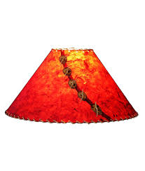 brick red lamp shade rustic artistry