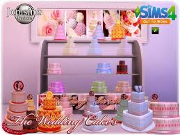 wedding cake in the sims 4 wedding cake at jomsims creations sims 4 updates