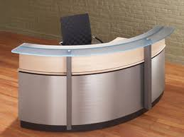 Rounded Reception Desk by Home Gym Interior Design Modern Reception Desks Counters Curved