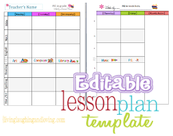 printable homeschool lesson plan template cute lesson plan template free editable download living laughing