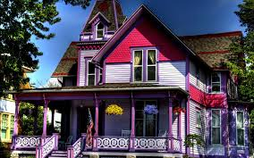 Cute House by Houses Unusual Purple House Cute Houses Architecture Wide