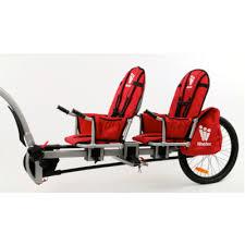 siège vélo é weehoo igo two remorque vélo à pédale pour 1 ou 2 enfants