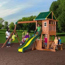 cedar swing sets cedar summit grandview deluxe cedar wooden swing
