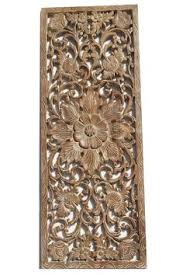 floral delights decorative mango wood picture photo home floral wood carved wall panel wall hanging asian home decor