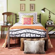 sadie brown and black twin metal bed by inspire q classic free