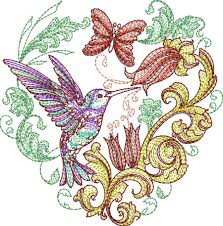 spring baroque singles 02 machine embroidery designs by sew swell