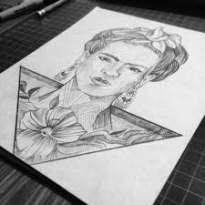 frida draw drawing sketch paper fridakahlo fridakahlodrawing