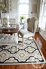 5 rules for choosing the perfect dining room rug stonegable experts say to choose your rug first and then coordinate and style your room around it that is great advice but what if you already have all your