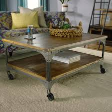 awesome wood and metal aiden coffee table world market industrial