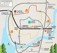 Table Rock Lake Map Explorebranson Com Official Site