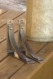 station grandé shelf brackets by adirondack blacksmith in 8 hand forged iron corbel for bar counter tops shelving
