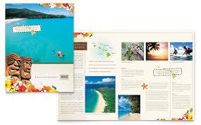 hawaii travel vacation brochure template word u0026 publisher