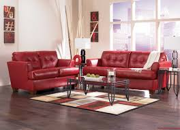 marvelous red living room set with elegant awesome red leather