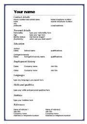 simple resume template word resume template word doc resume sle