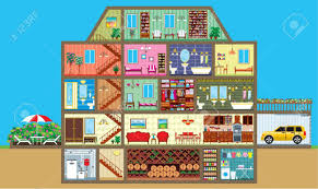 layout of house inside clipart house layout pencil and in color inside clipart