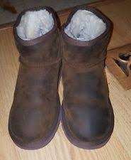 s ugg australia mini leather boots ugg australia s mini leather boots size 6 ebay