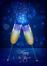 happy new year backdrop happy new year background with wine glass free vector in adobe