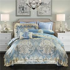 Royal Bedding Sets New 4 6 9pcs Luxury Royal Bedding Set Stain Jacquard Cotton