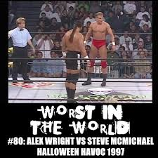 wcw halloween havoc the wrestling section worst in the world alex wright vs steve