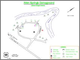 map of oregon springs allen springs cground metolius river central oregon