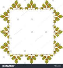 abstract frame oak leaves hearts oak stock vector 536304619