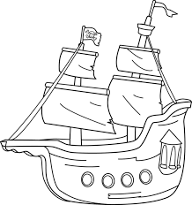 pirate ship coloring free clip art
