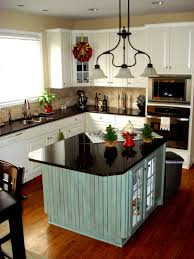 kitchen island with stools modern undermount sink double square