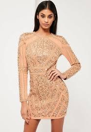 embellished dress peace gold embellished sleeve dress missguided