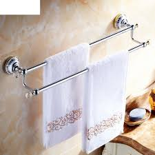 Antique Brass Bathroom Accessories by Delicate Brass Double Bar Towel Rack Bathroom Accessories The