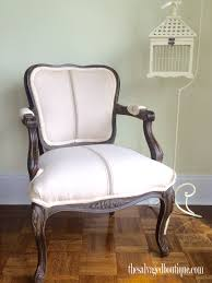 French Provincial Armchair French Provincial Chair Makeover For Brandy The Salvaged Boutique