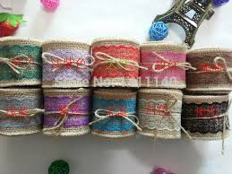 colored burlap ribbon aliexpress buy different color lace burlap ribbon