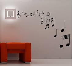 stunning musical notes wall art quote sticker vinyl music lounge