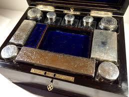 Vanity Box Victorian Coromandel And Silver Vanity Box In A Nutshell