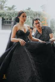 black wedding maja salvador wore black wedding dress