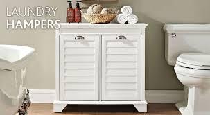 Bathroom Cabinet With Hamper Laundry Hampers Improvements Catalog