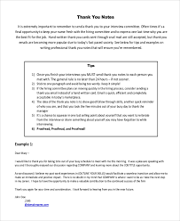 sample thank you note interview 7 examples in pdf