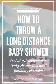 how to throw a long distance baby shower grace over 50