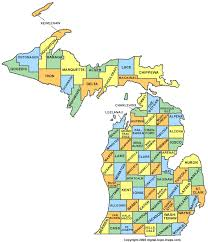 michigan county map mi counties map of michigan