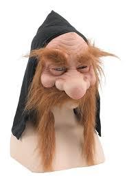 head rubber mask alien gnome old lady man fancy dress various designs